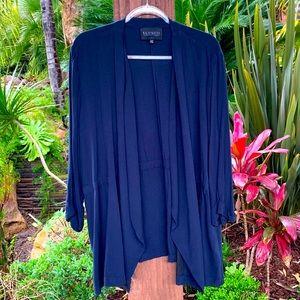 ELOQUII dark navy drape jacket in 22/24